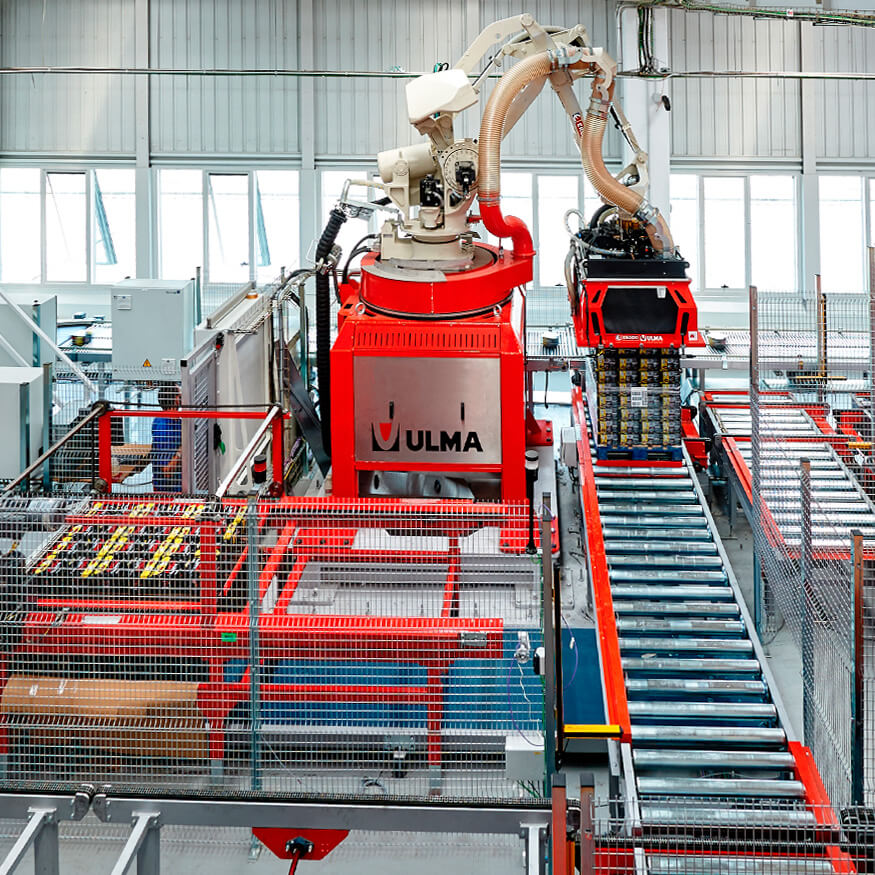 Sistemas robóticos de paletização