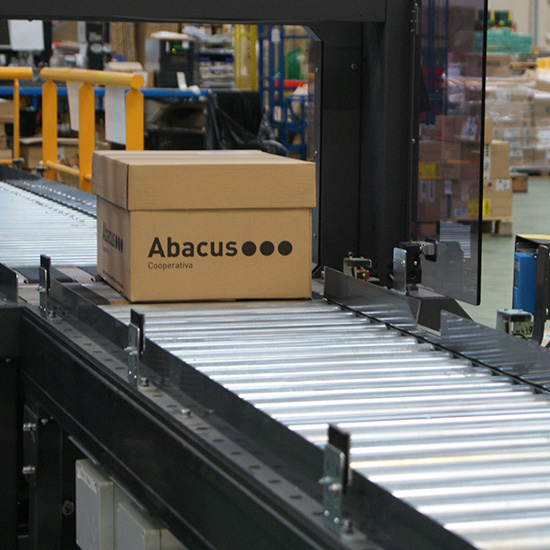 Transporte de caixas em ABACUS
