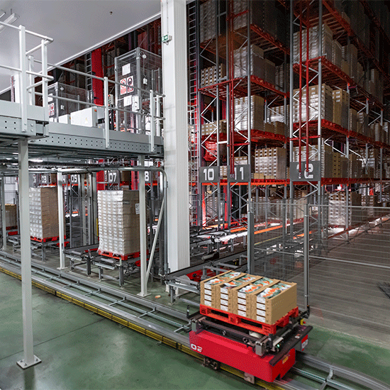 STV - Conveyor and automatic guides vehicle systems