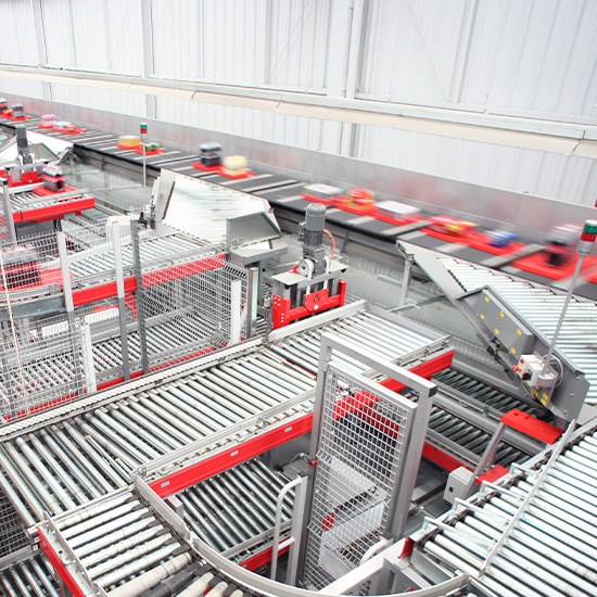 Crossbelt sorter - High-capacity automated sorting